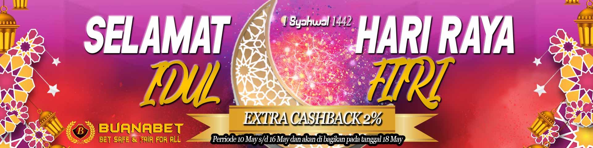 Promo Idul Fitri Extra Cashback 2%